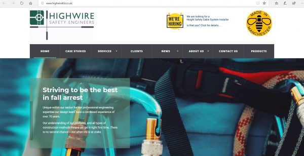 A pic of the Highwire Safety Engineers website