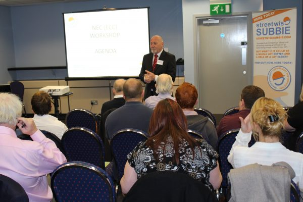 barry ashmore delivering construction seminars and training to specialist subcontractors