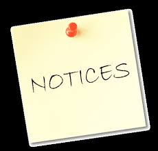 notice, notifications during construction works